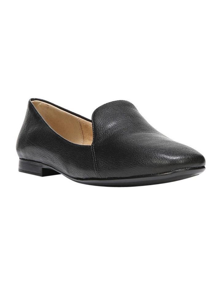 Emiline Black Leather Flat Shoe image 3