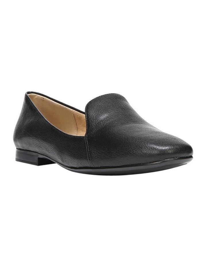 Emiline Black Leather Flat Shoe image 4
