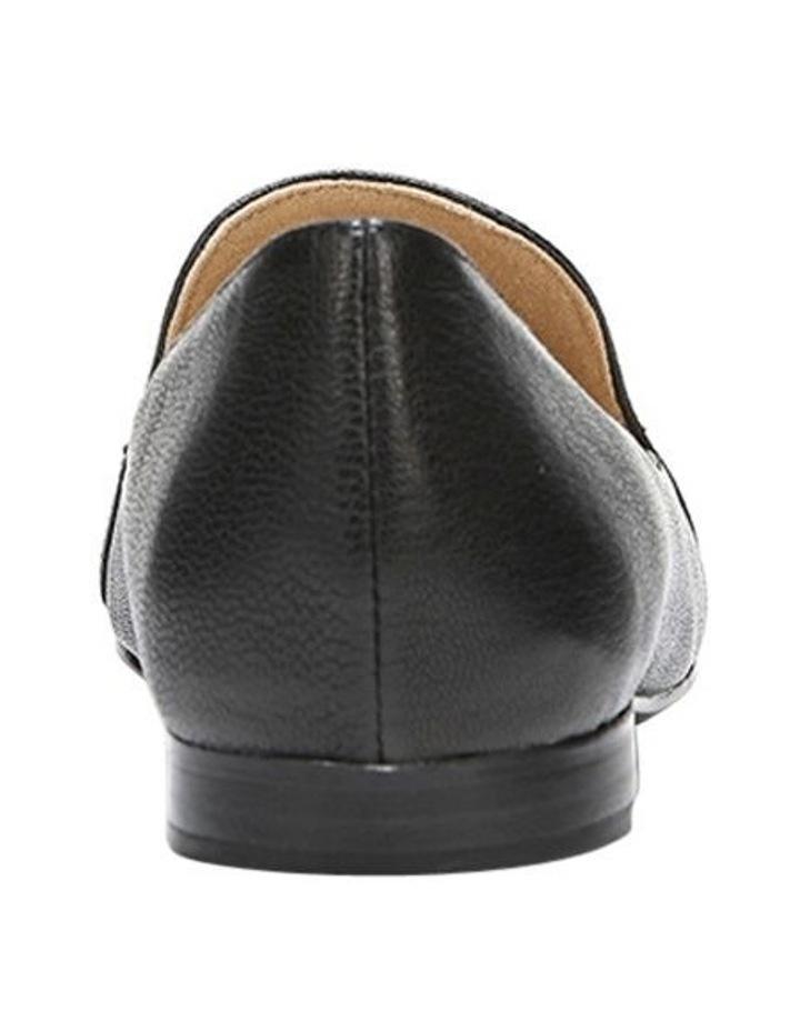 Emiline Black Leather Flat Shoe image 5