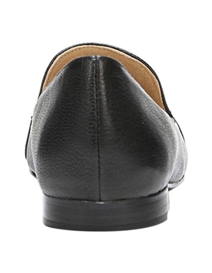 Emiline Black Leather Flat Shoe image 6