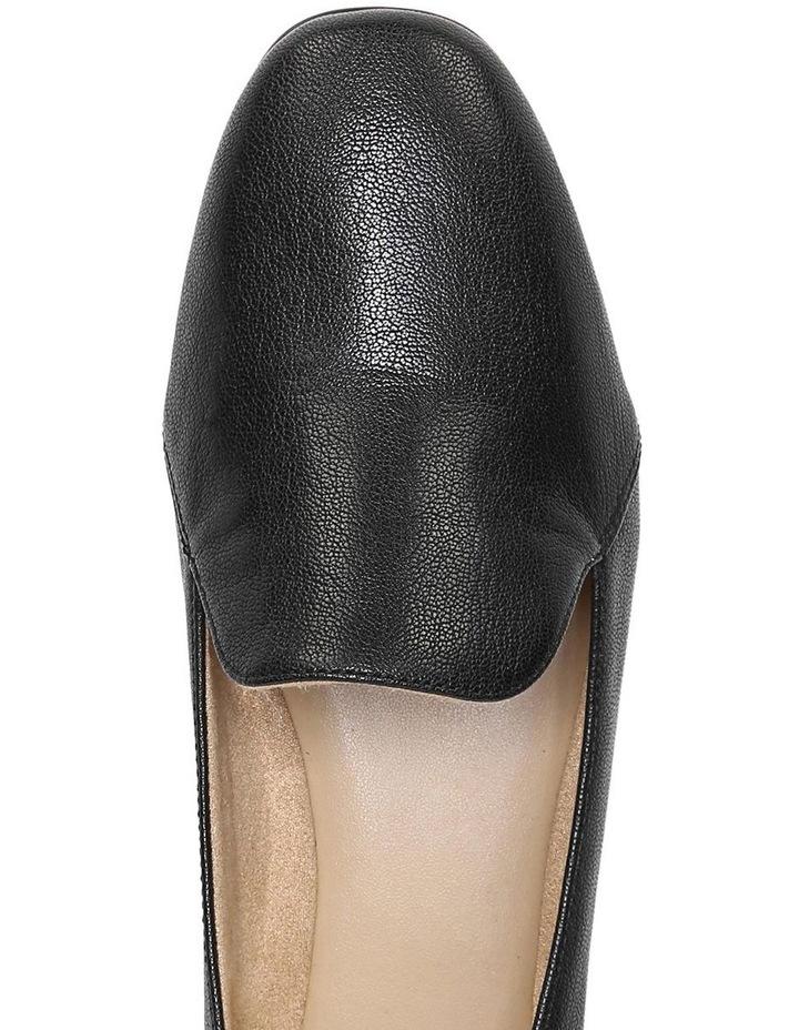 Emiline Black Leather Flat Shoe image 7