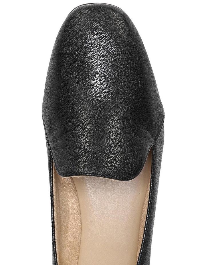 Emiline Black Leather Flat Shoe image 8