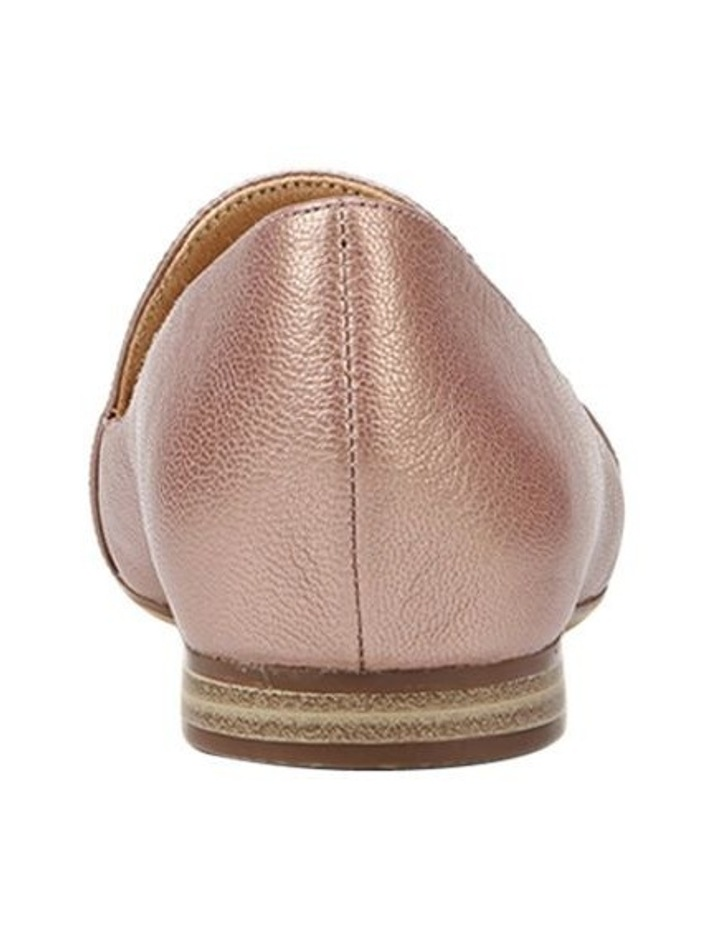 Emiline Rose Gold Sparkle Flat Shoe image 3