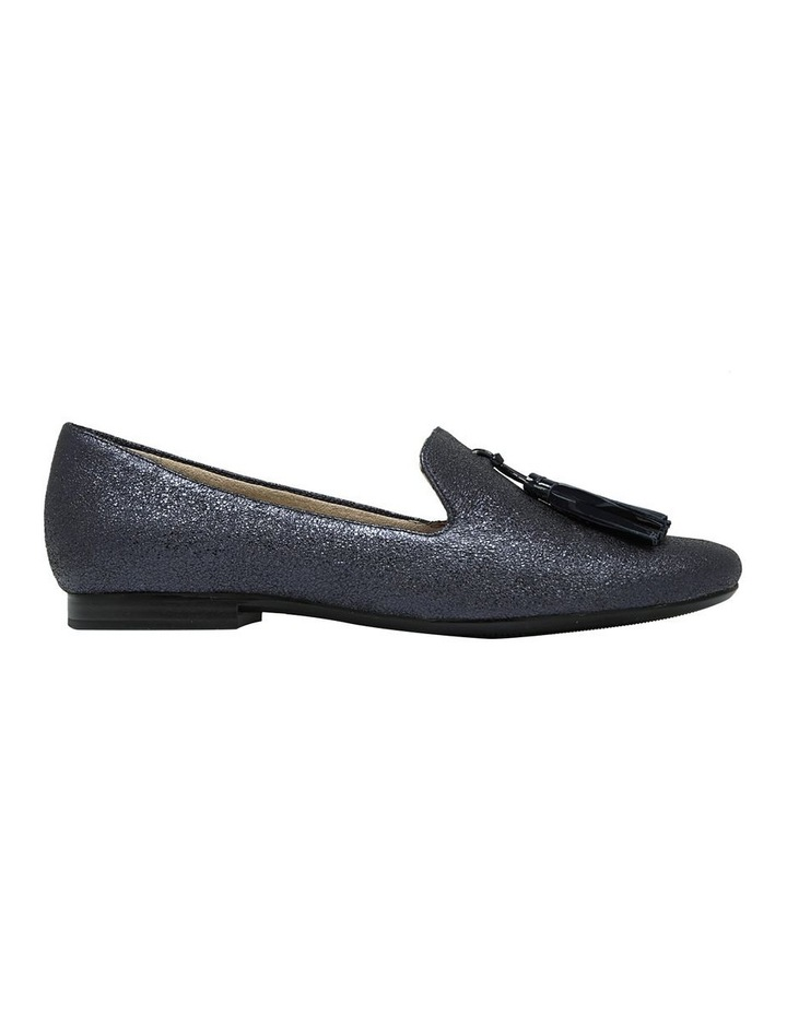 Elly Navy Sparkle Flat Shoes image 1