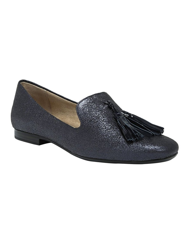 Elly Navy Sparkle Flat Shoes image 2