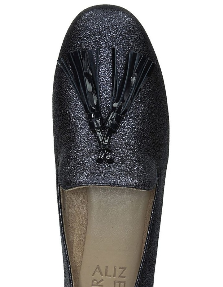 Elly Navy Sparkle Flat Shoes image 4