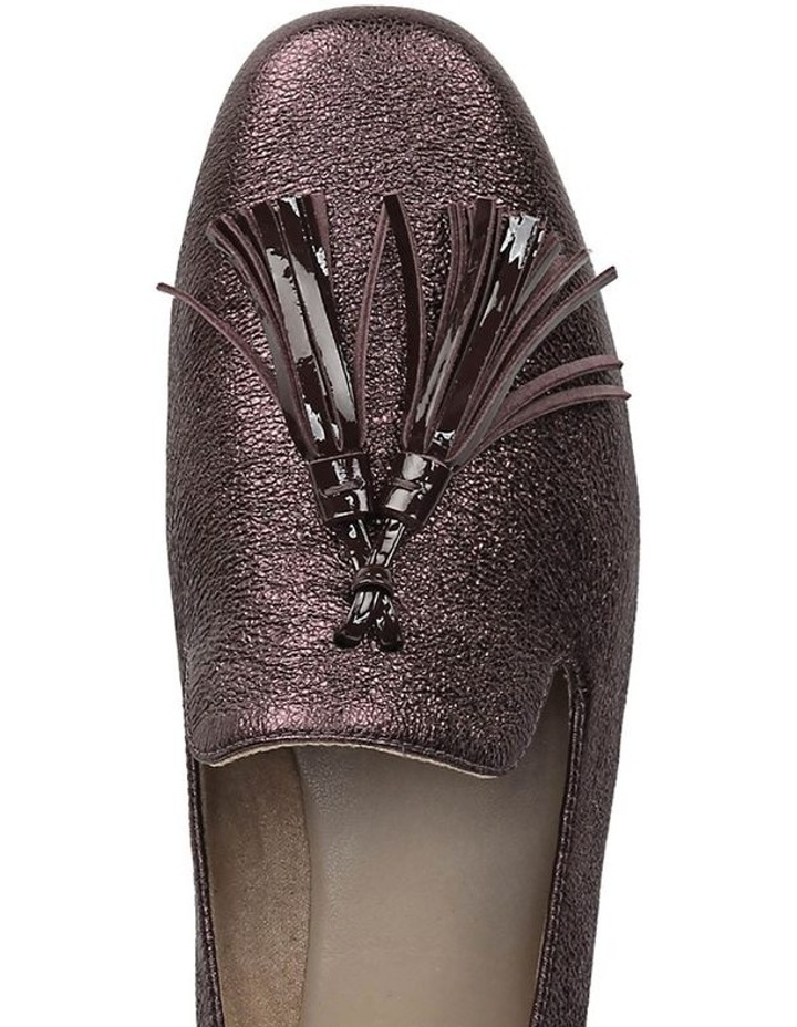 Elly Bordo Sparkle Flat Shoes image 4