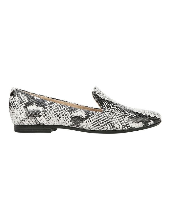 Emiline Black/White Snake Loafer Shoe image 1