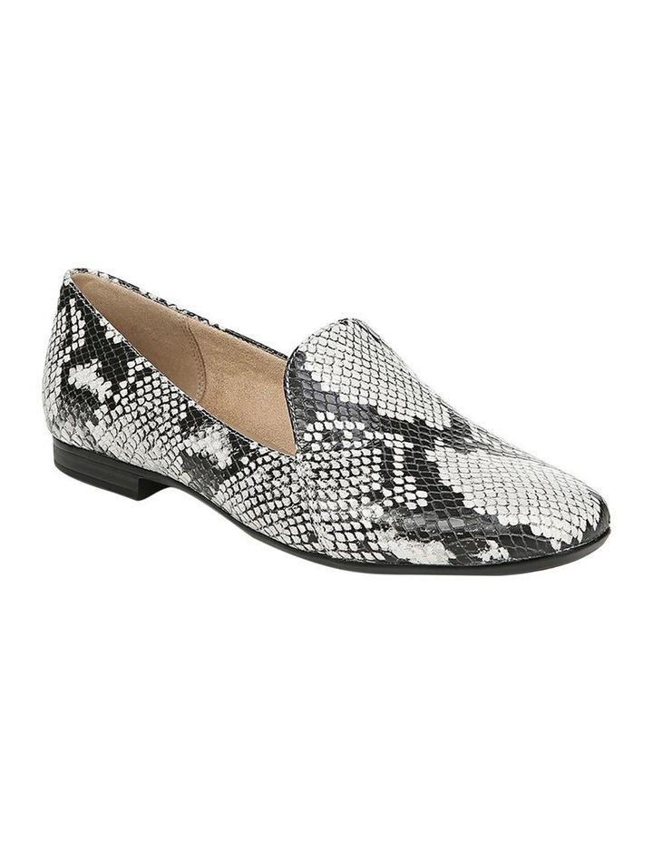 Emiline Black/White Snake Loafer Shoe image 2