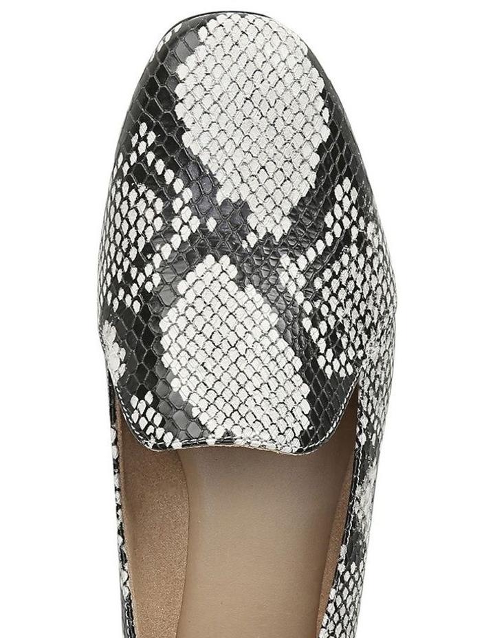Emiline Black/White Snake Loafer Shoe image 4