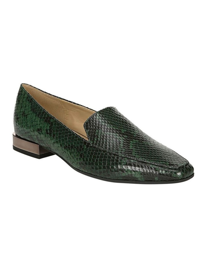 Clea Green Snake Flat Shoe image 2