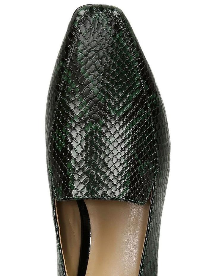 Clea Green Snake Flat Shoe image 4
