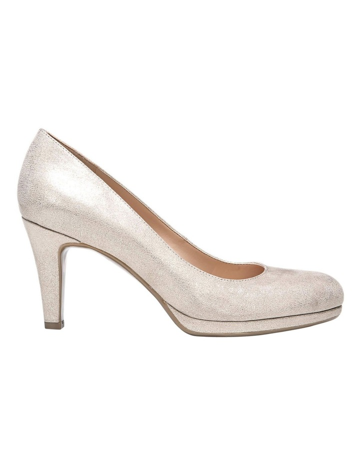 ad75472d9bda Michelle Taupe Gold Heeled Shoes image 1