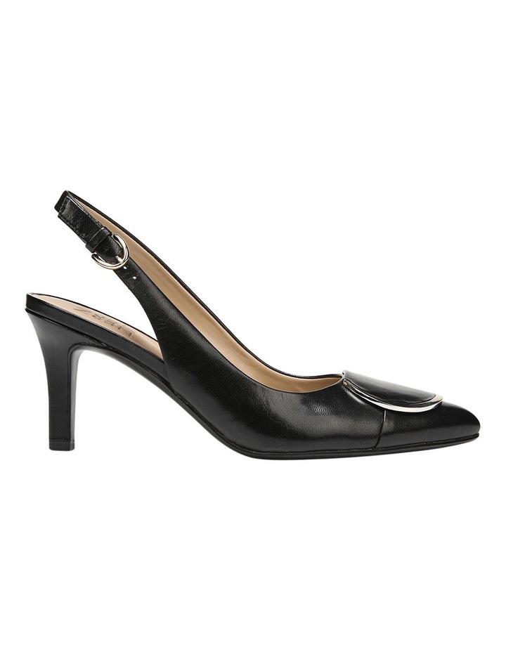 Nora Black Leather Heeled Shoes image 1