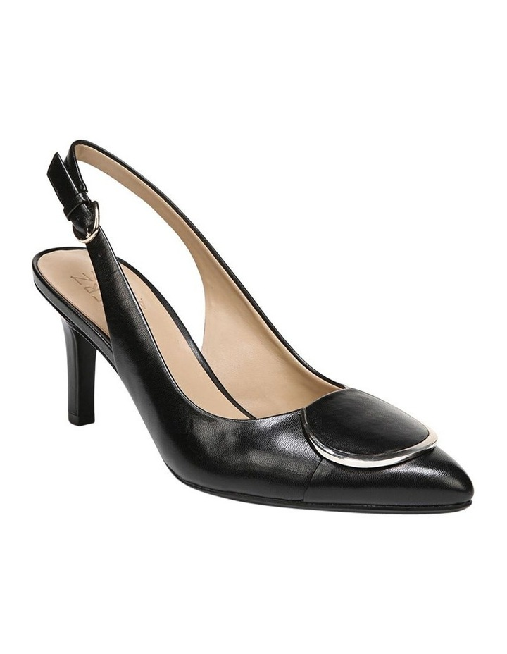 Nora Black Leather Heeled Shoes image 3