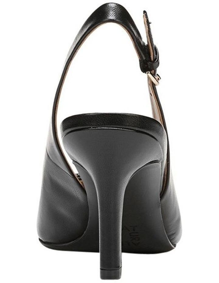 Nora Black Leather Heeled Shoes image 5