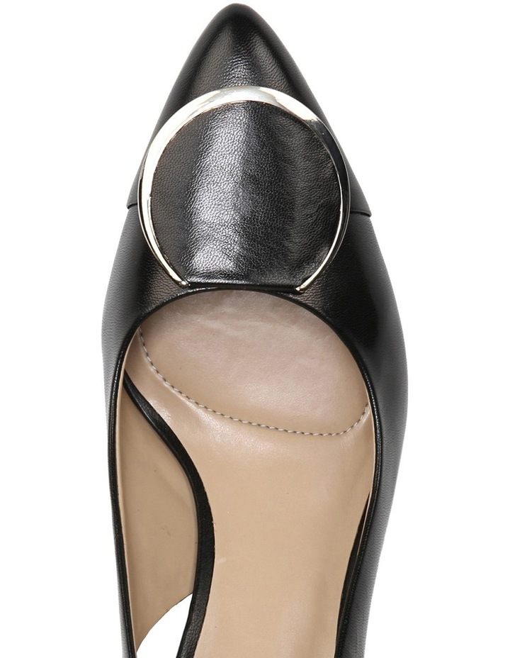 Nora Black Leather Pump image 4