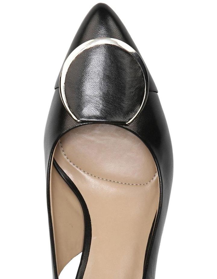 Nora Black Leather Heeled Shoes image 7
