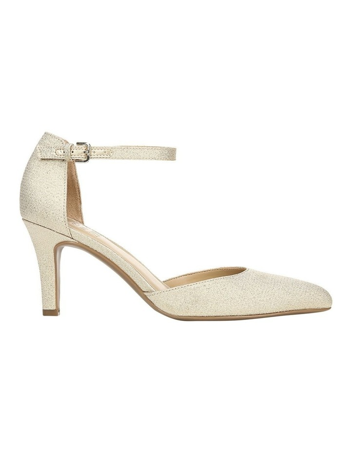 Emilie Gold Glitter Heeled Shoes image 1