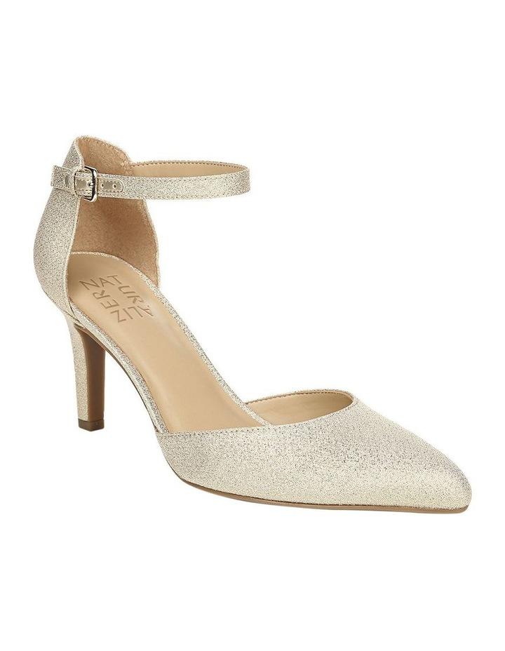 Emilie Gold Glitter Heeled Shoes image 2