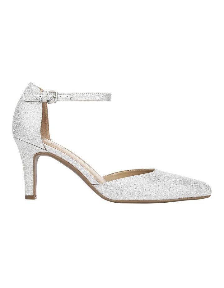 Emilie Silver Glitter Heeled Shoes image 1