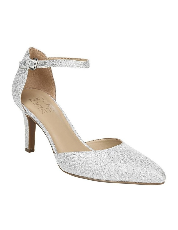 Emilie Silver Glitter Heeled Shoes image 2