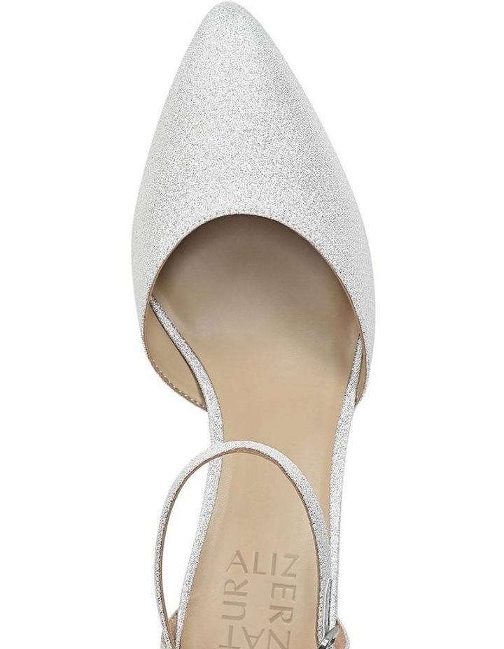 Emilie Silver Glitter Heeled Shoes image 4