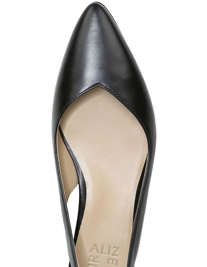 Halo Black Low Heeled Shoe image 4