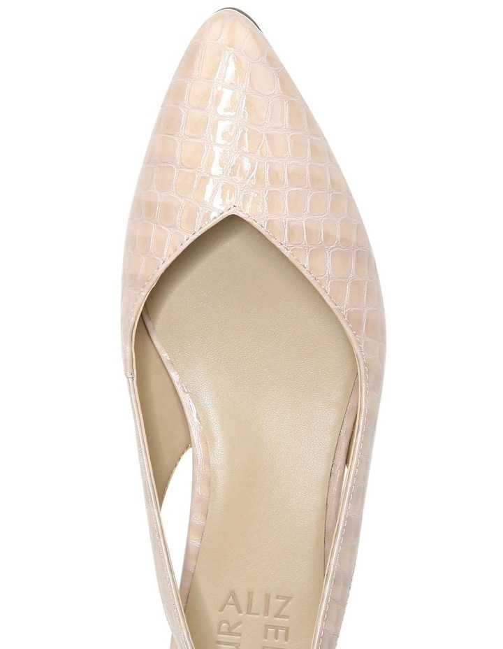 Halo Almond Croc Low Heeled Shoe image 4