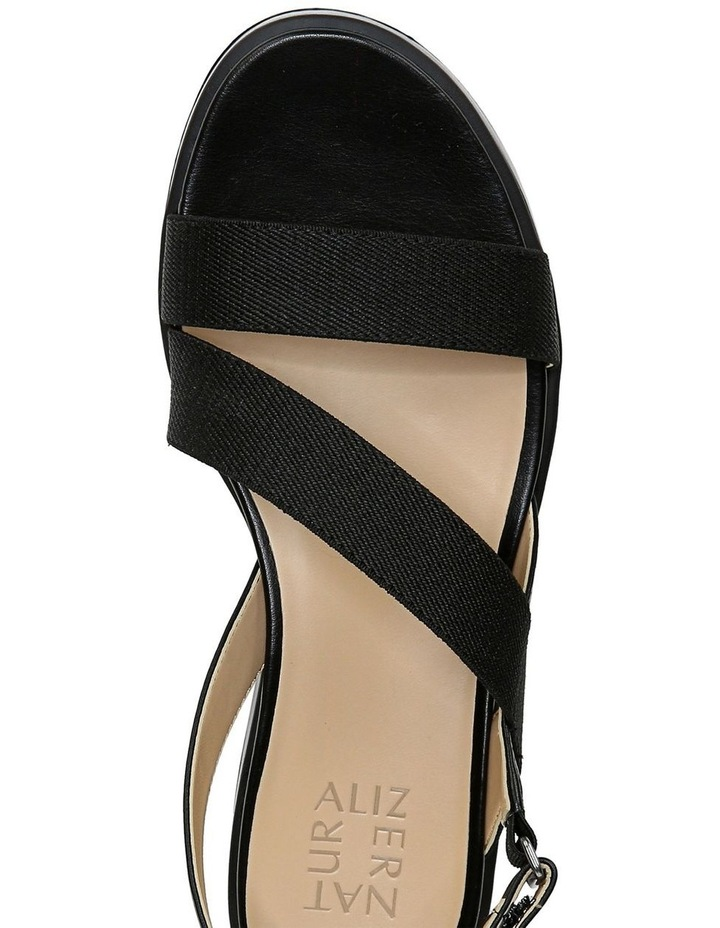 Charlize 2 Black Wedge Sandal image 4