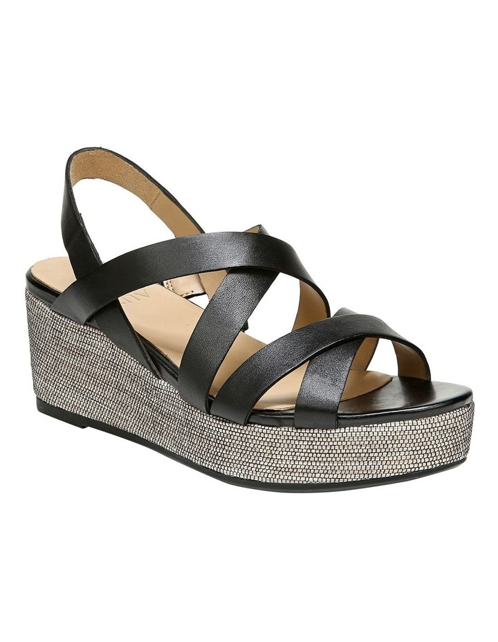 Unique Black Wedge Sandal image 2