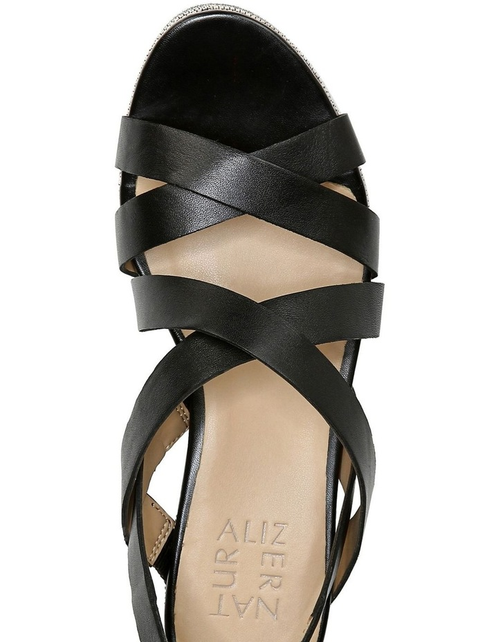 Unique Black Wedge Sandal image 4