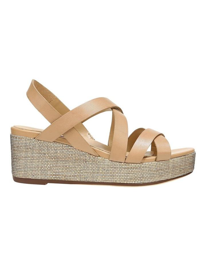 Unique Bamboo Tan Wedge Sandal image 1