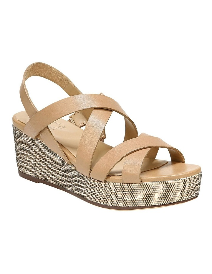 Unique Bamboo Tan Wedge Sandal image 2