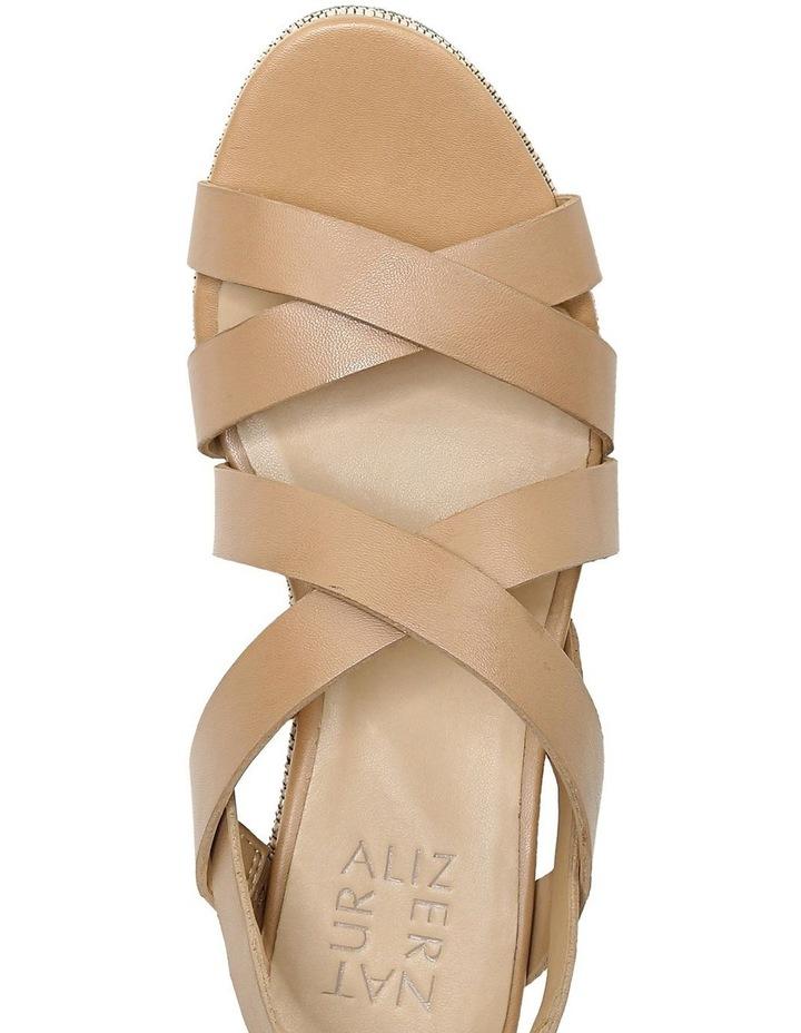 Unique Bamboo Tan Wedge Sandal image 4