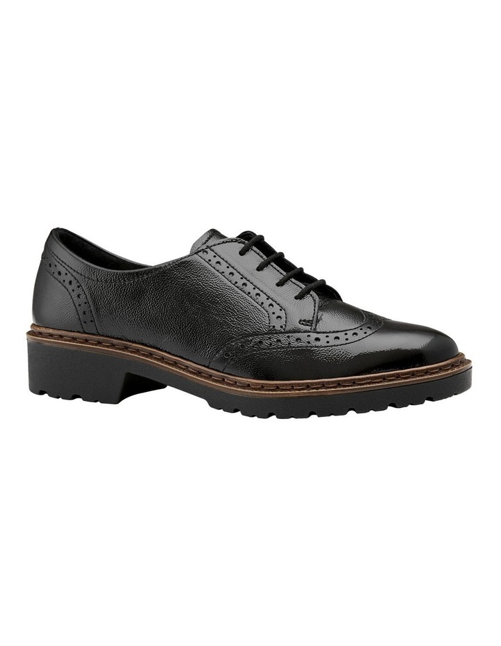 ARA RICHMOND BLACK CRINKLED PATENT LOAFER image 4