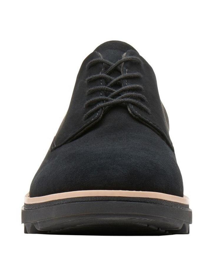 Clarks Sharon Noel Black Nubuck Flat Shoe image 3
