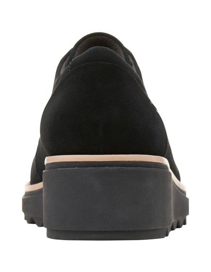 Clarks Sharon Noel Black Nubuck Flat Shoe image 6