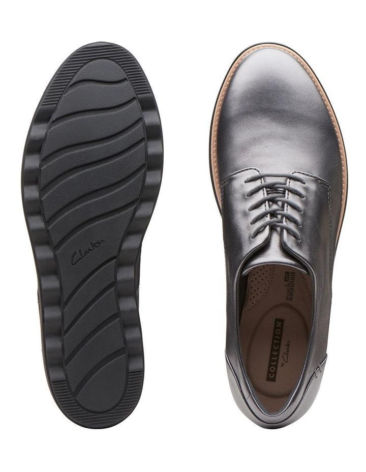 Clarks Sharon Noel Gunmetal Metallic Leather Flat Shoe image 7