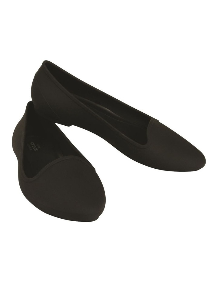 Black Flat Shoe Crocs EVE 203433 image 5