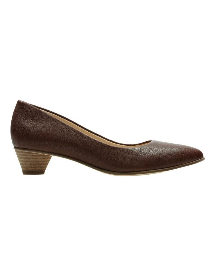 Mena Bloom Tan Leather Heeled Shoe image 1