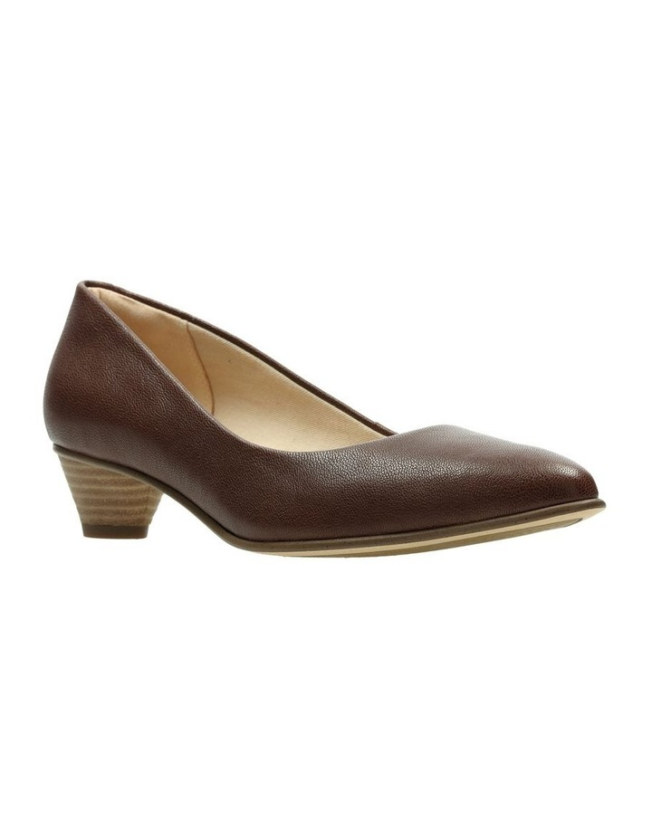 Mena Bloom Tan Leather Heeled Shoe image 2