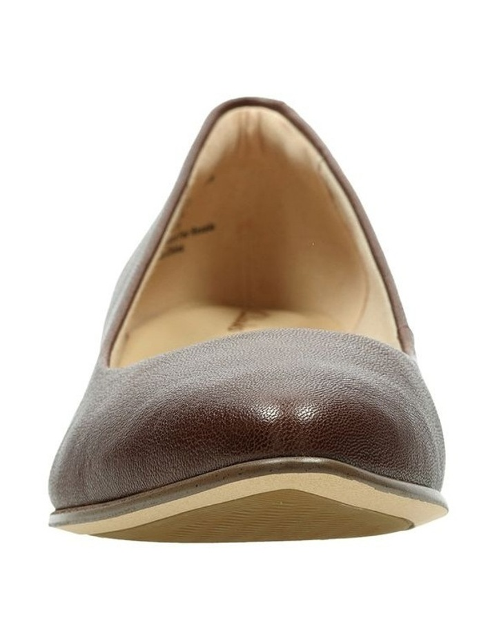 Mena Bloom Tan Leather Heeled Shoe image 3