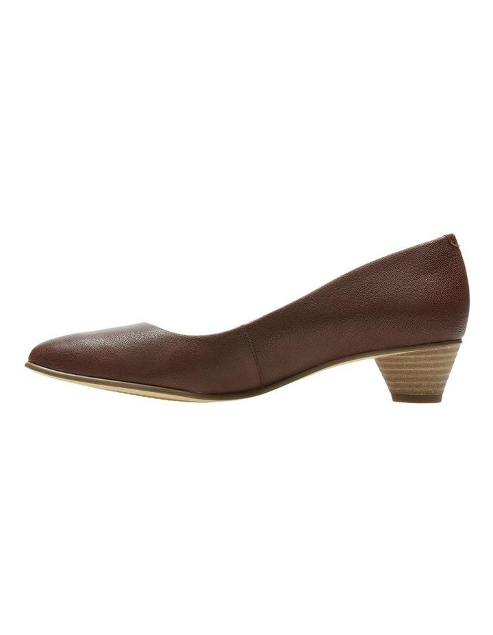 Mena Bloom Tan Leather Heeled Shoe image 4