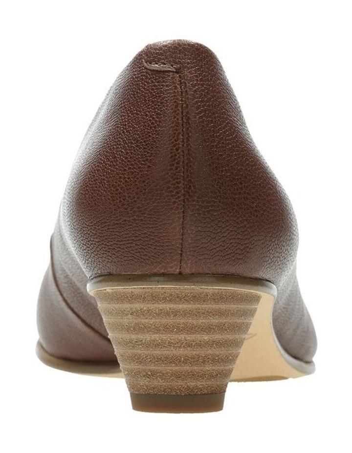 Mena Bloom Tan Leather Heeled Shoe image 5