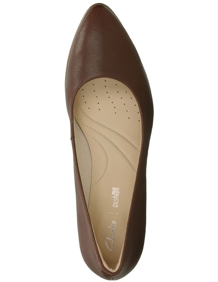 Mena Bloom Tan Leather Heeled Shoe image 6