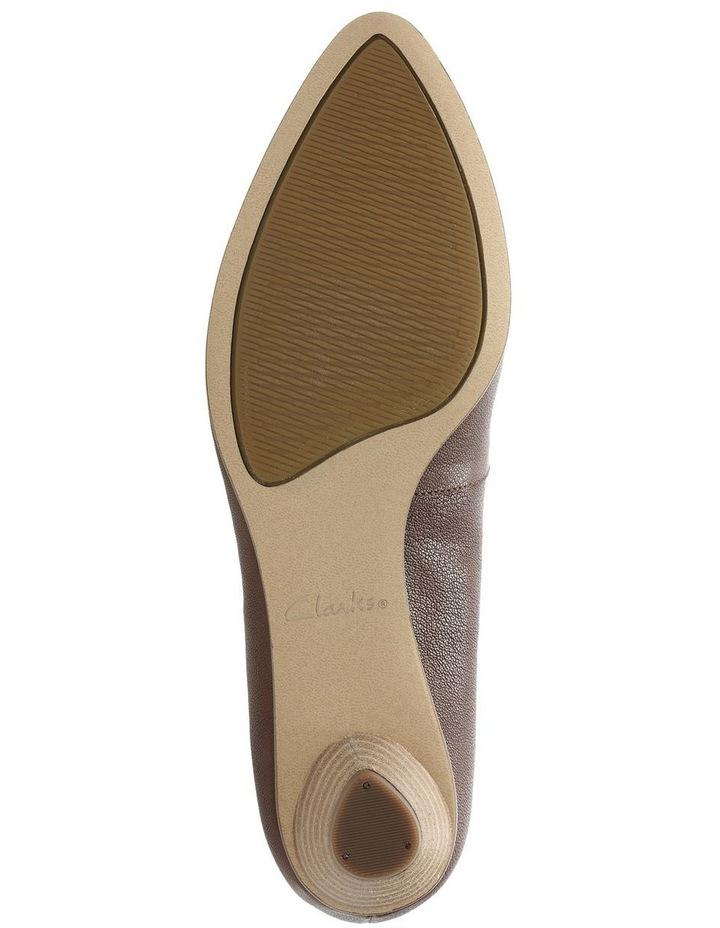 Mena Bloom Tan Leather Heeled Shoe image 7