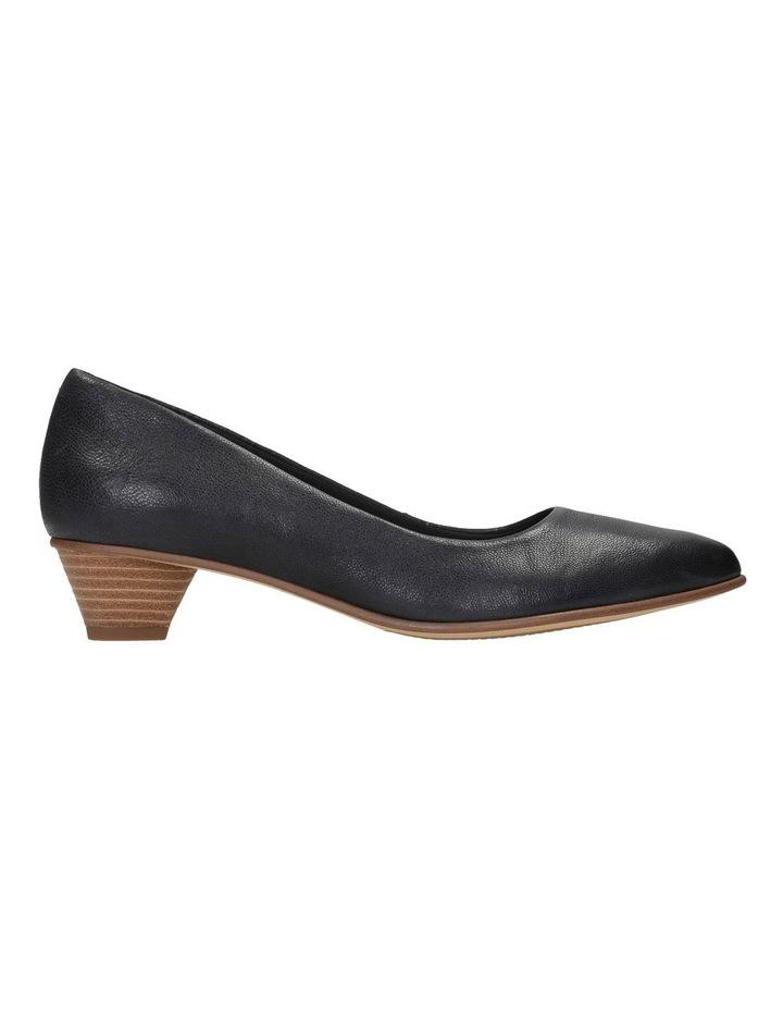 Mena Bloom Black Leather Heeled Shoe image 1