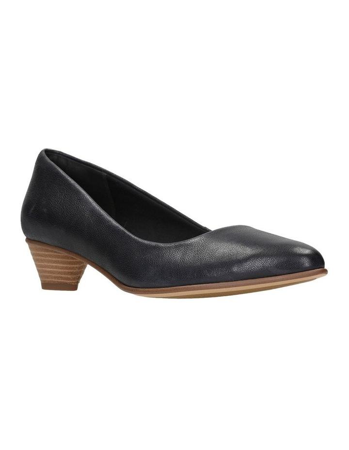 Mena Bloom Black Leather Heeled Shoe image 2
