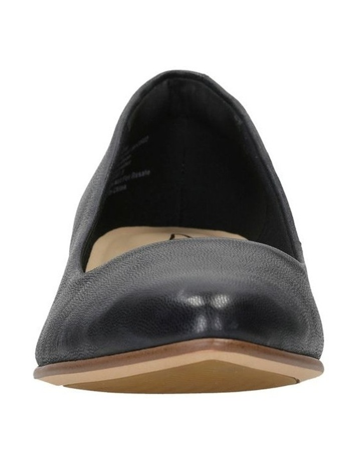 Mena Bloom Black Leather Heeled Shoe image 3